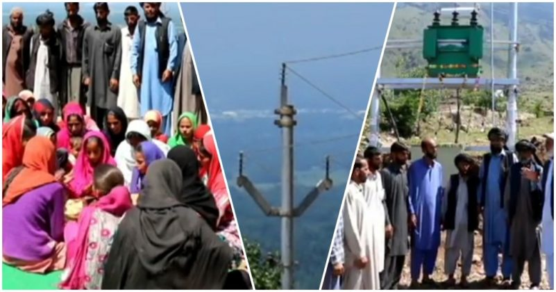 Kashmir – People celebrate as their village gets electricity first time since 1947