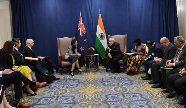 Bilateral meeting of Prime Minister with H.E. Ms Jacinda Ardern, Prime Minister of New Zealand