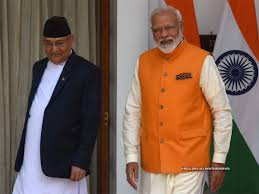Inauguration of Motihari-Amlekhganj (Nepal) pipeline by PM and PM Oli of Nepal