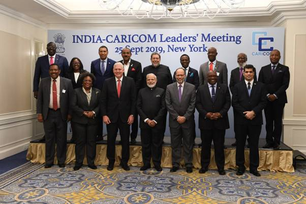 Prime Minister met with the leaders of CARICOM at the UNGA