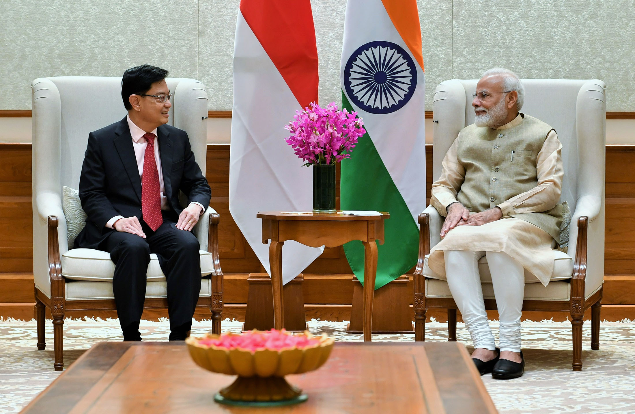Deputy PM and Minister for Finance of Singapore Mr. Heng Swee Keat calls on PM