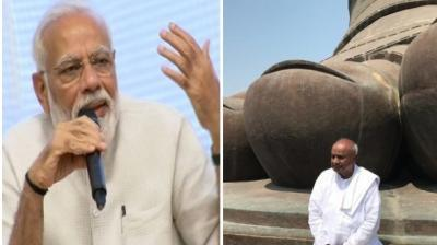 Former Prime Minister Shri H.D. Deve Gowda praises the Prime Minister for making of Statue of Unity