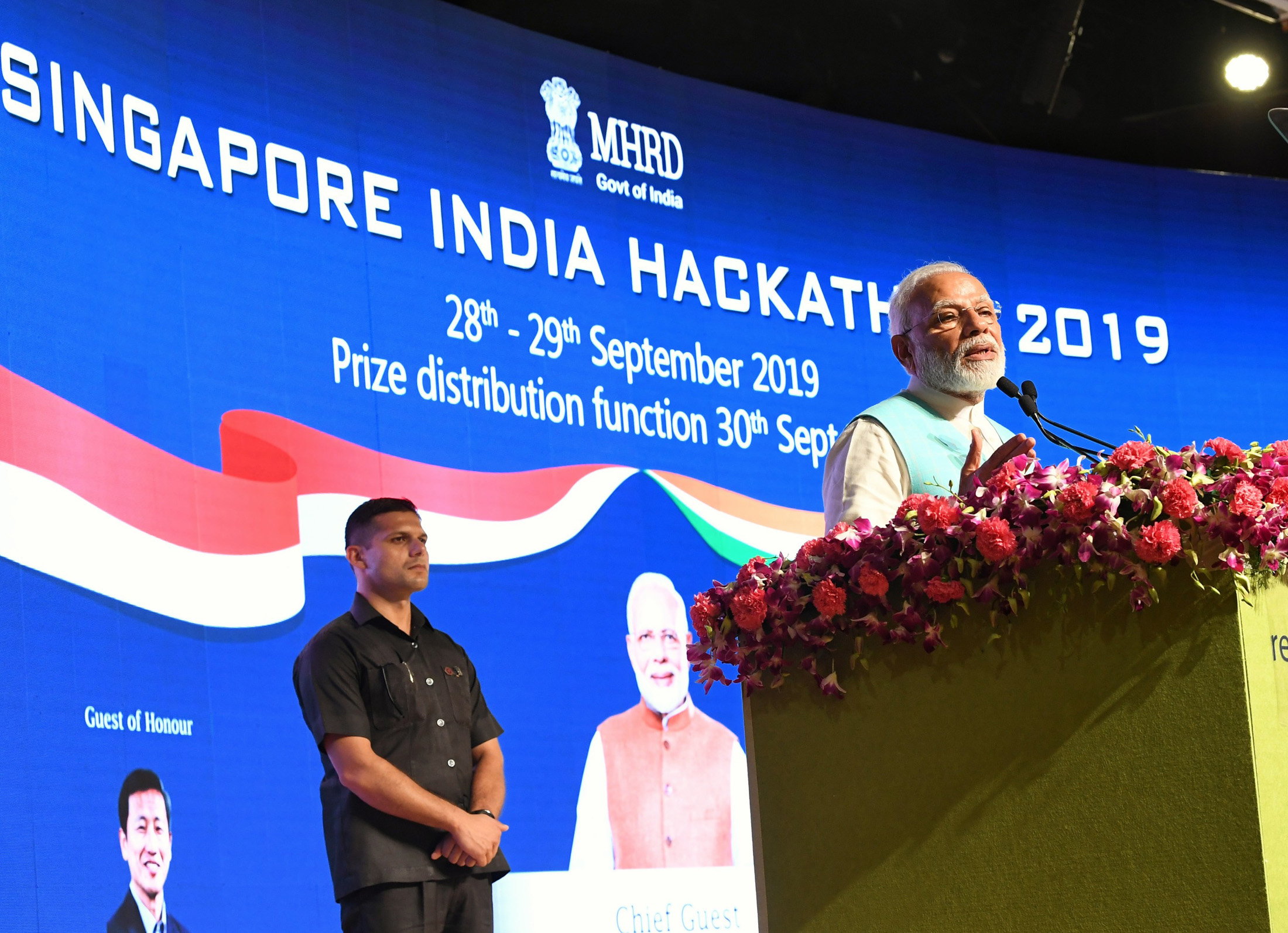PM's Speech at Singapore – India Hackathon Event at IIT Chennai