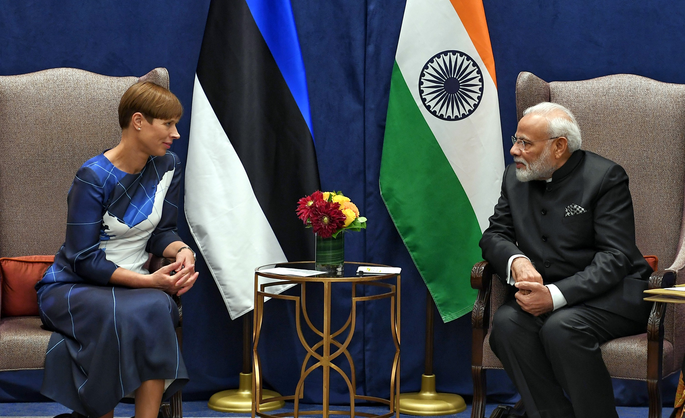 PM's meeting with President of Estonia on sidelines of UNGA 74
