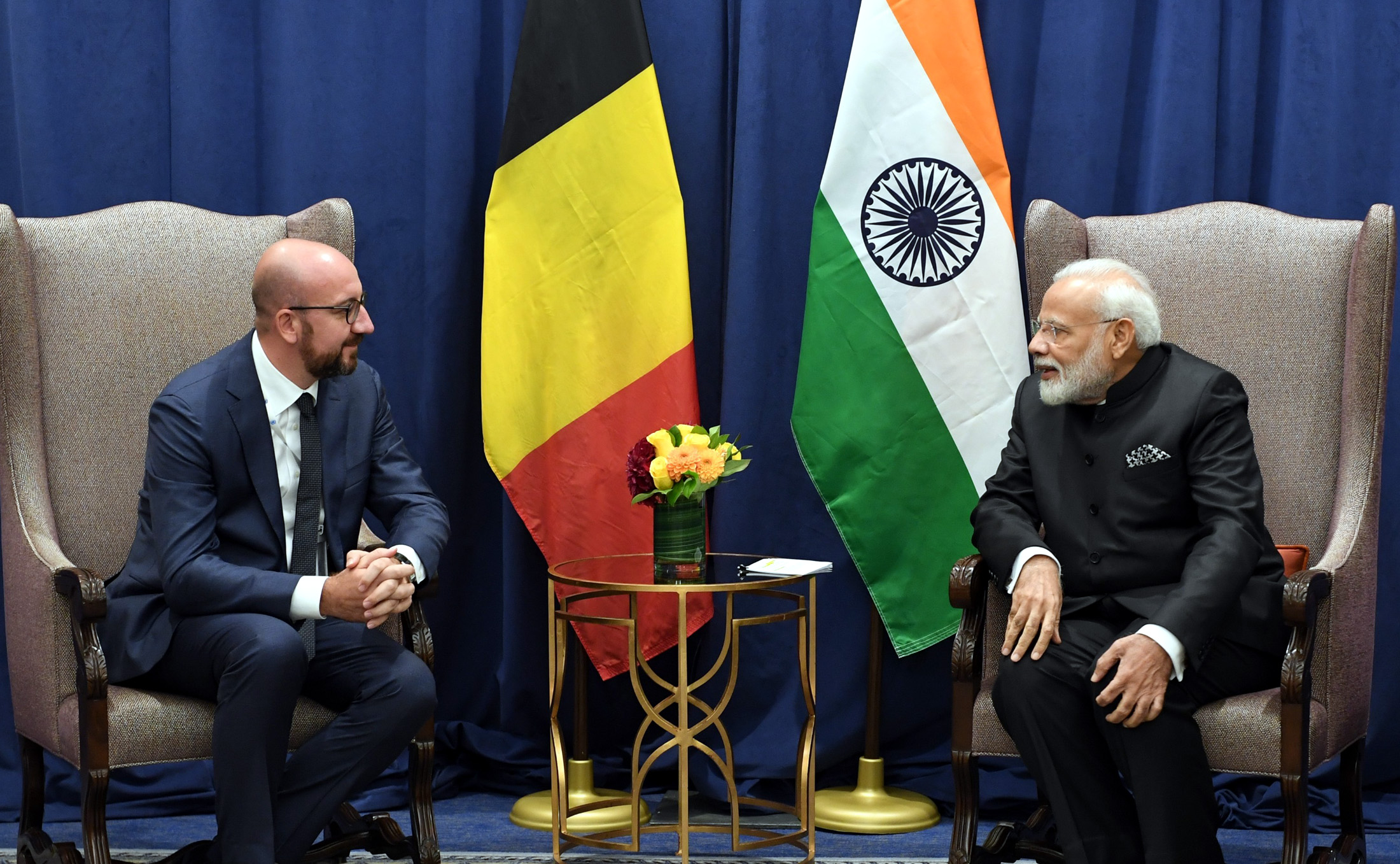 PM Meeting with Belgian PM on margins of 74th Session of UNGA