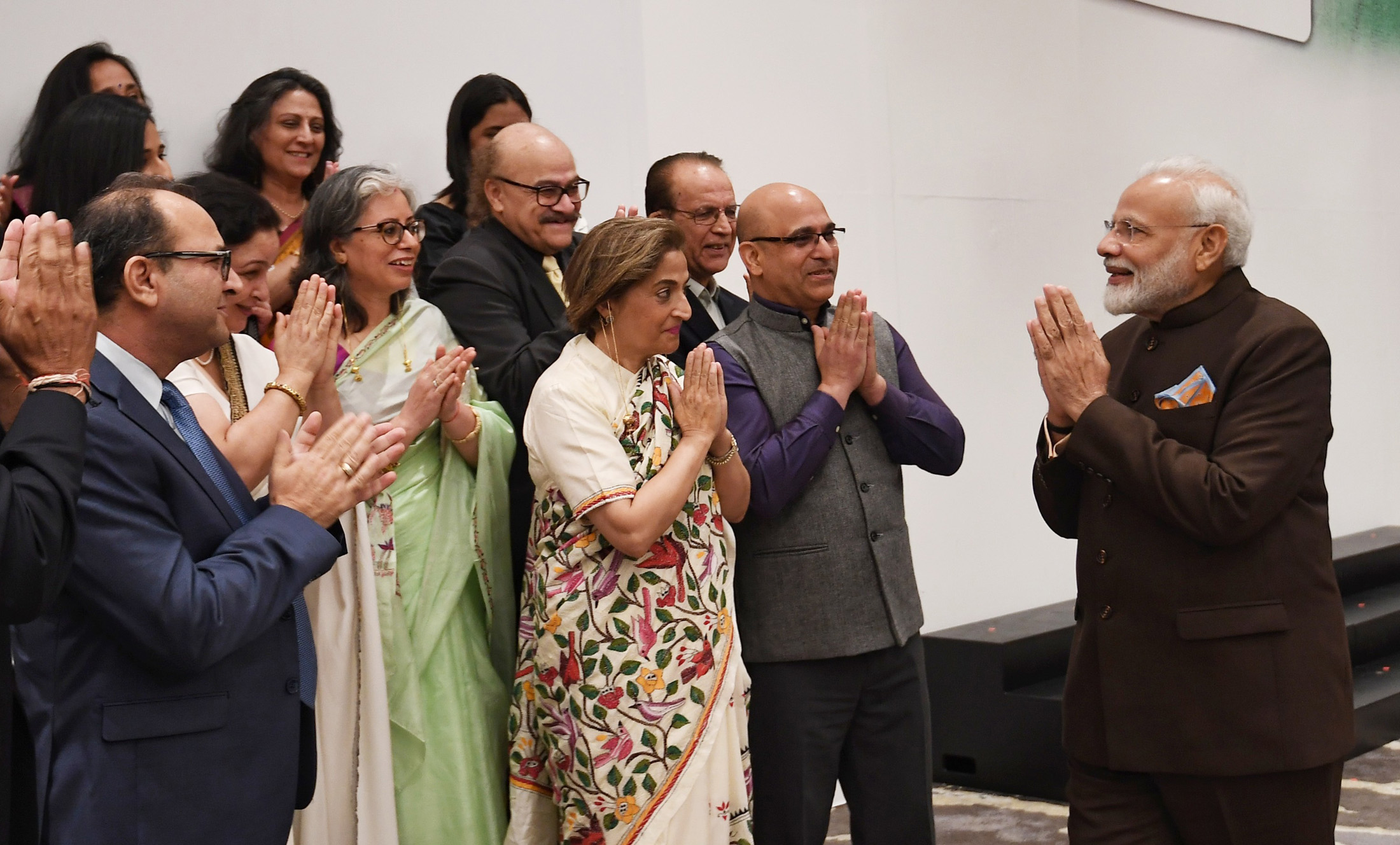 PM interacts with Kashmiri Pandits in Houston