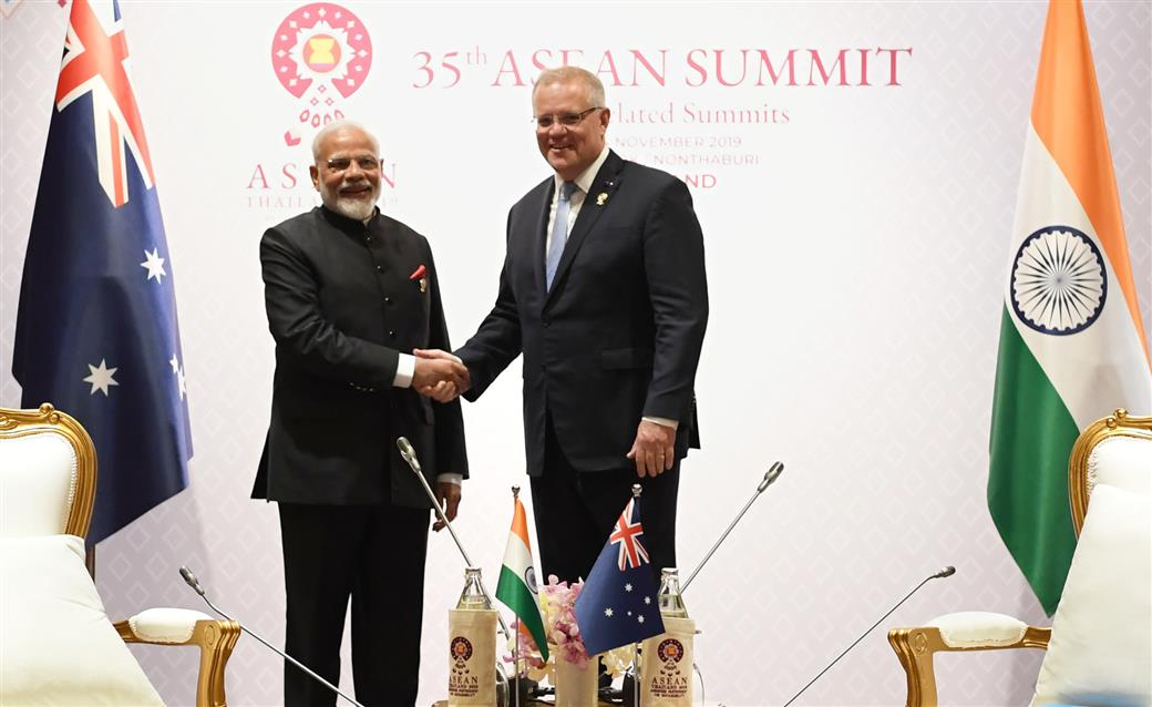 Meeting of PM with Prime Minister of Australia