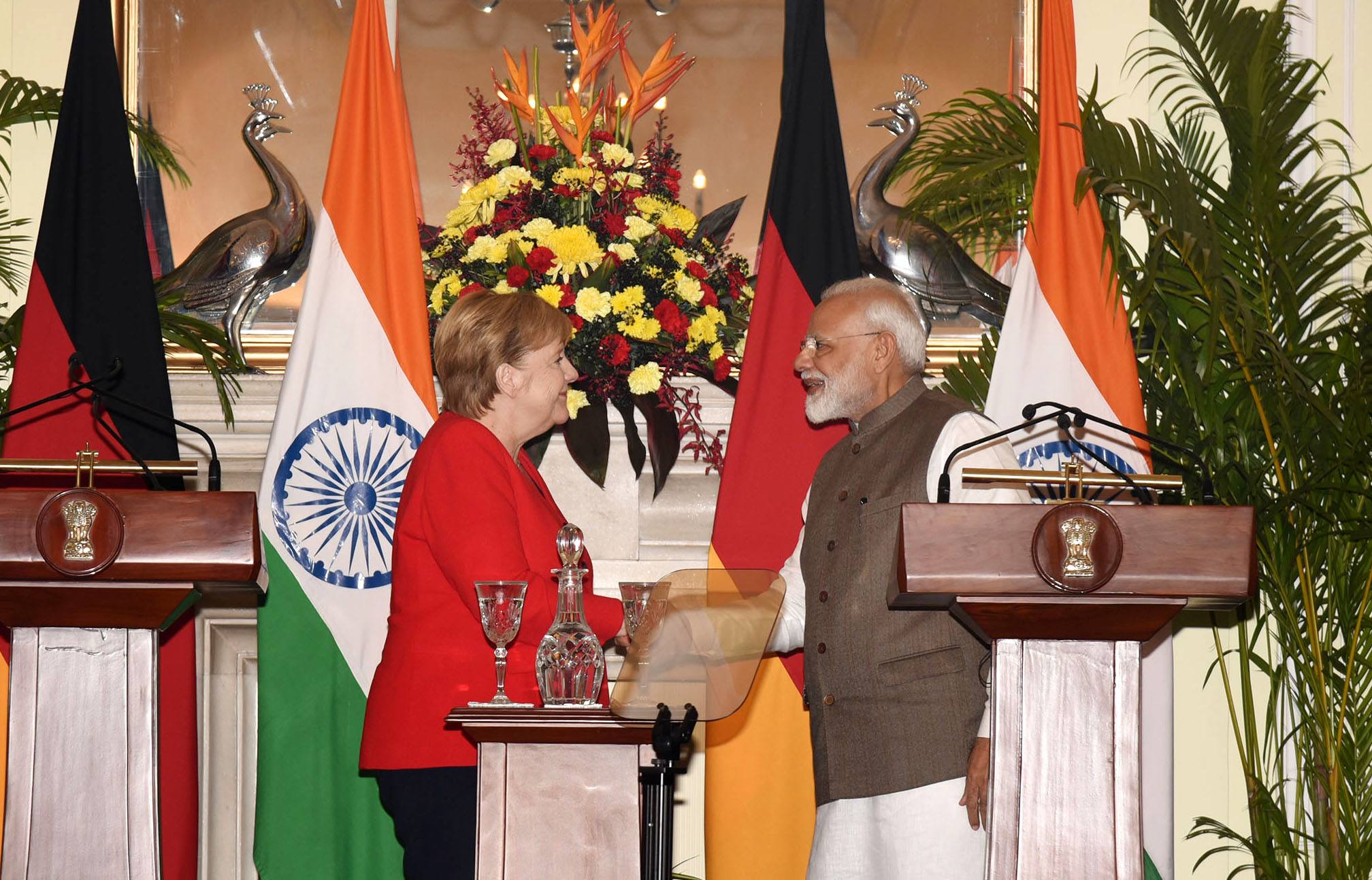 PM's Statement at Joint Press Meet along with German Chancellor in New Delhi