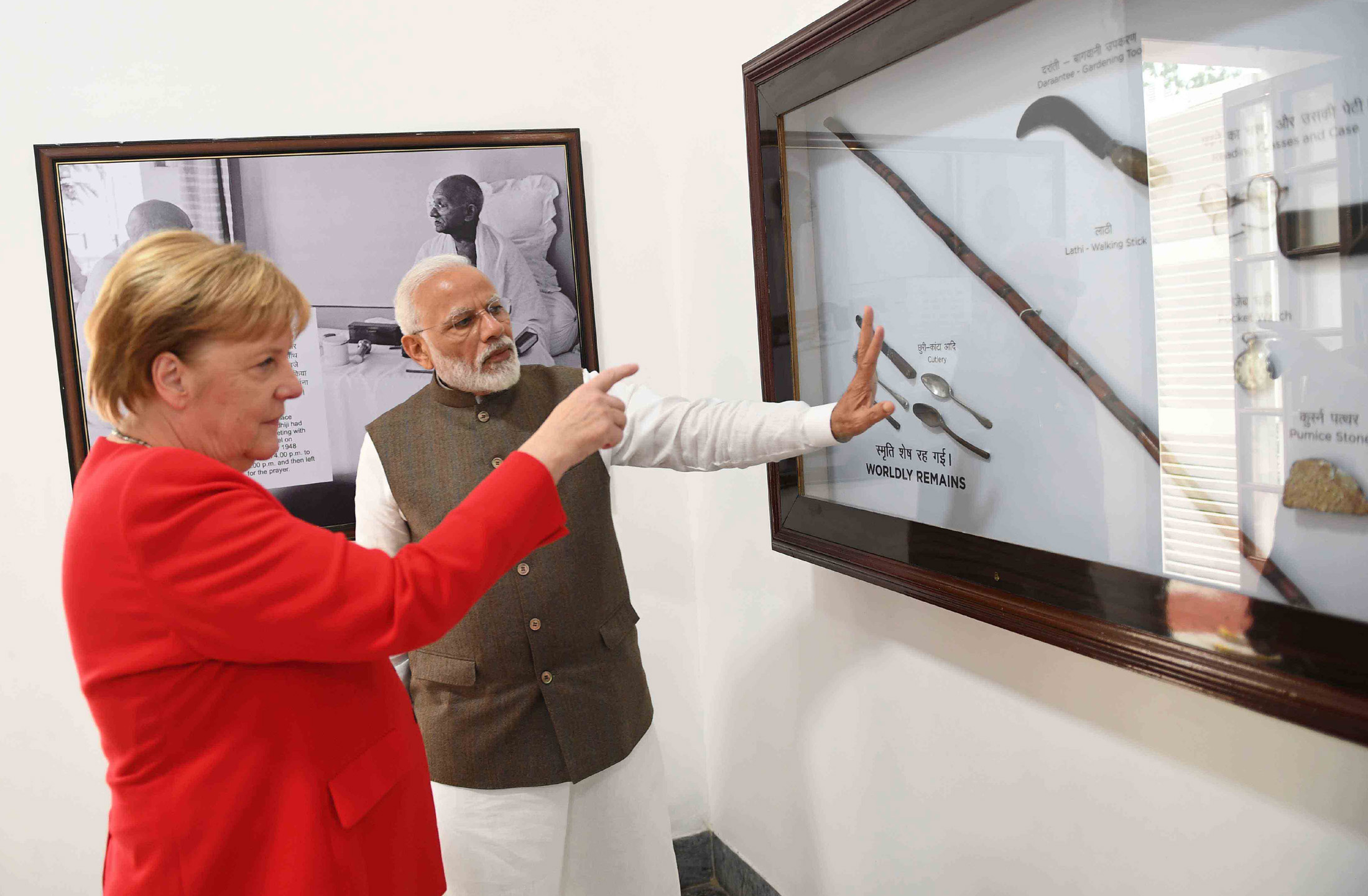 PM visits Gandhi Smriti with German Chancellor