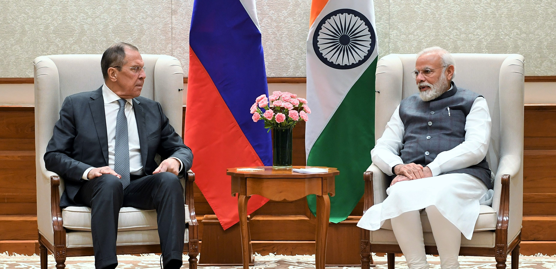 Foreign Minister of Russian Federation Mr. Sergey Lavrov Calls on PM