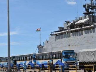 Operation Samudra Setu - INS Jalashwa Arrives at Tuticorin with Indian Citizens Embarked from Sri Lanka