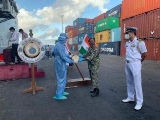 OP Samudra Setu - INS Jalashwa departs Male for Tuticorin with 700 Indians embarked