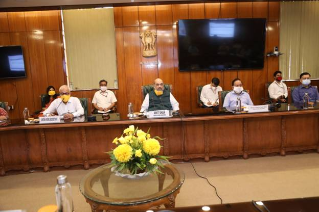Meeting attended by Union Health Minister Dr. Harsh Vardhan, Delhi LG Shri Anil Baijal, CM Shri Arvind Kejriwal and AIIMS Director besides other senior officers