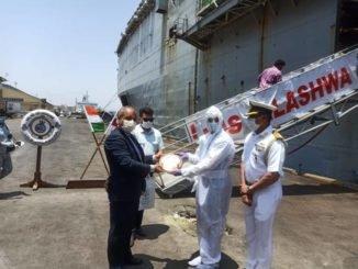 OPERATION SAMUDRA SETU INS JALASHWA EMBARKS INDIAN NATIONALS AT BANDAR ABBAS, IRAN