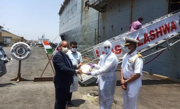 OPERATION SAMUDRA SETU INS JALASHWA EMBARKS INDIAN NATIONALS AT BANDAR ABBAS, IRAN