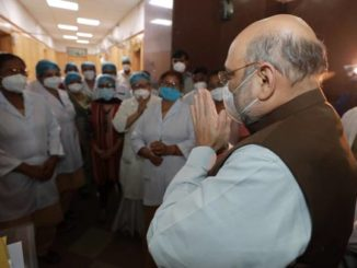 Union Home Minister Shri Amit Shah pays surprise visit to Lok Nayak Jay Prakash Narayan (LNJP) Hospital to review arrangements related to COVID-19