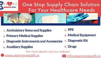 Aarogyapath, a web-based solution for the healthcare supply chain that provides real-time availability of critical supplies launched