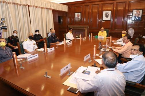 Home Minister Shri Amit Shah holds a review meeting