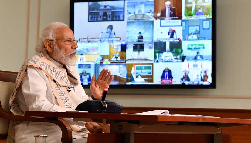 PM holds interaction with CMs to discuss situation emerging post Unlock 1.0