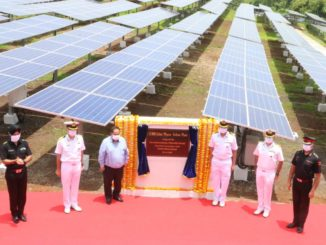 Largest Solar Power Plant of Navy Commissioned