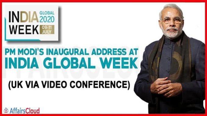 PM addresses the inaugural session of India Global week
