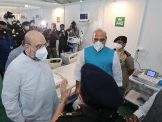 Union Home Minister Shri Amit Shah and Raksha Mantri Shri Rajnath Singh visit the 1000 Bed with 250 ICU Beds Sardar Vallabh Bhai Patel COVID19 Hospital