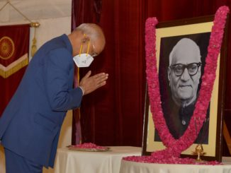 President of India pays floral tributes to Shri V.V. Giri on his Birth Anniversary