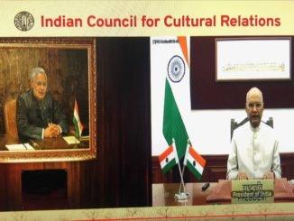 President of India virtually unveils a portrait of Shri Atal Bihari Vajpayee at ICCR Headquarters