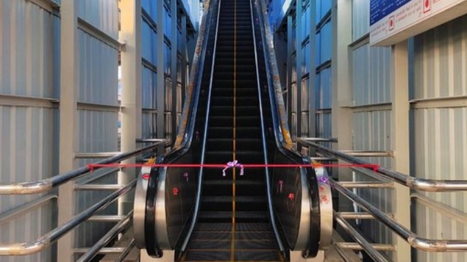WESTERN RLY COMMISSIONED TWO NEW ESCALATORS AT MIRA ROAD STATION