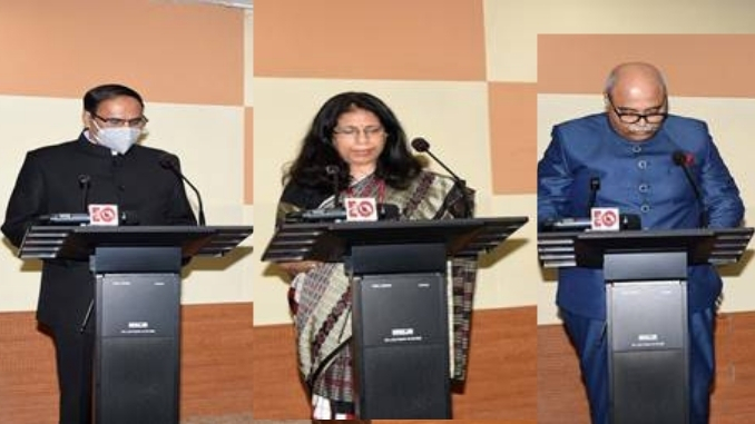 Three new Information Commissioners administered oath of office today