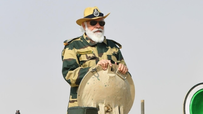 PM spends Diwali with soldiers in forward areas My Diwali is not complete without being with the soldiers: PM at Longewala Post