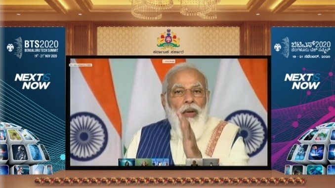 PM at Bengaluru Tech Summit, 2020 says Digital India has become a way of life & vision is to make India a global economic powerhouse by 2025