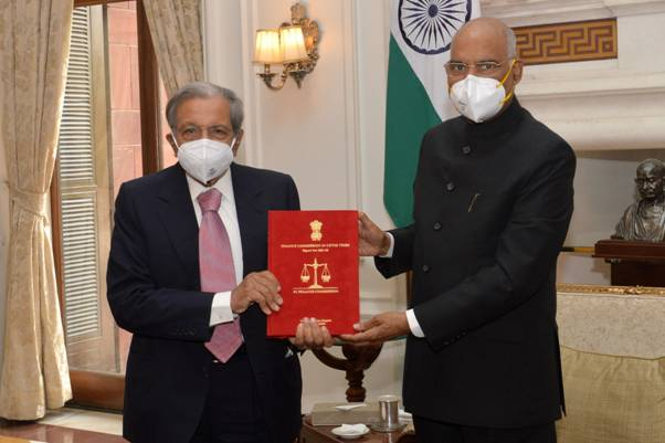 The 15th Finance Commission submits its Report for 2021-22 to 2025-26 to the President of India