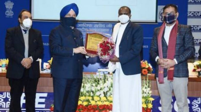 """Union Minister Shri Hardeep Singh Puri presides over the""""Minorities Day"""" celebration by the National Commission for Minorities-India press release"""