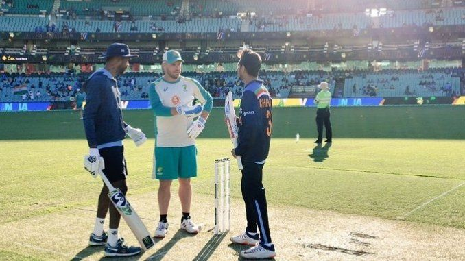 Before the toss, Finch has a 'small get together' with Pandya, Chahal: Ind vs Aus