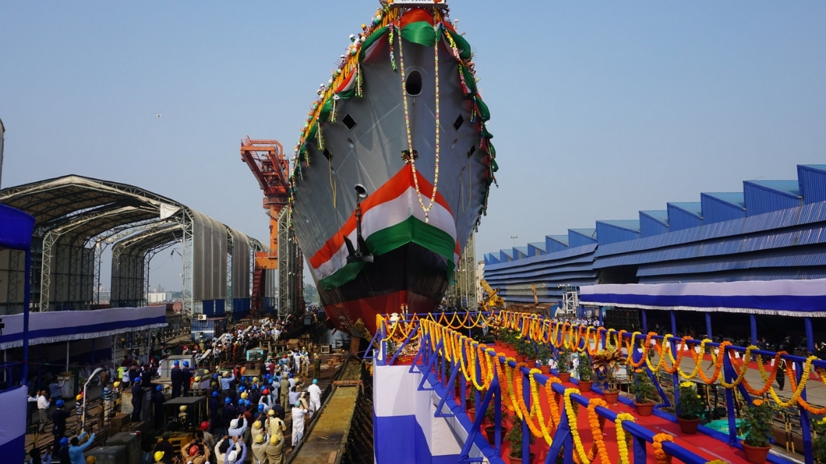 LAUNCH OF 2nd PROJECT 17A SHIP 'HIMGIRI' -India press release