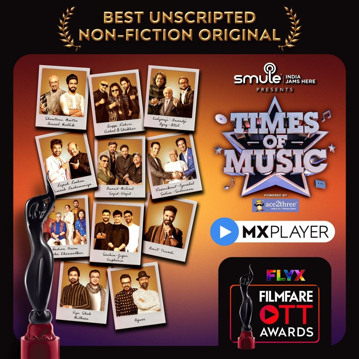 MX Player gets the Filmfare Black Lady home - Digpu News