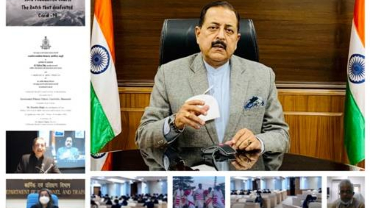 Union Minister Dr. Jitendra Singh addresses the Valedictory Function of 95th Foundation Course at Lal Bahadur Shastri National Academy of Administration