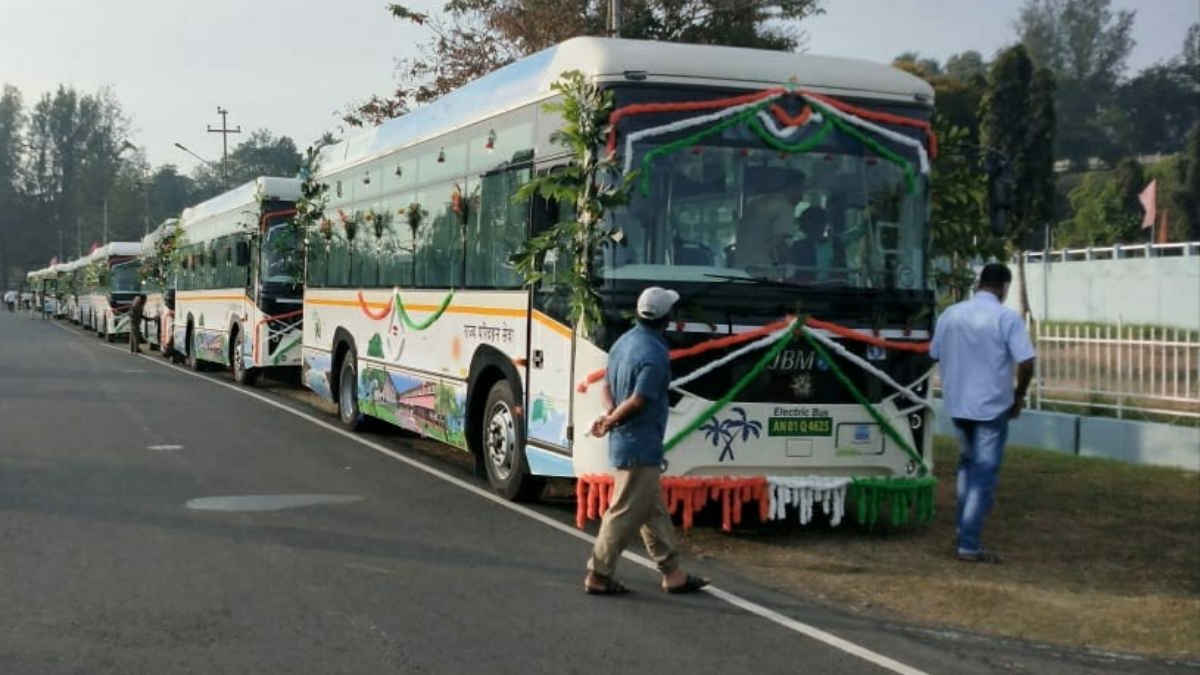 Andaman Lt Governor flags off electric buses; will curb pollution on the island - India press release