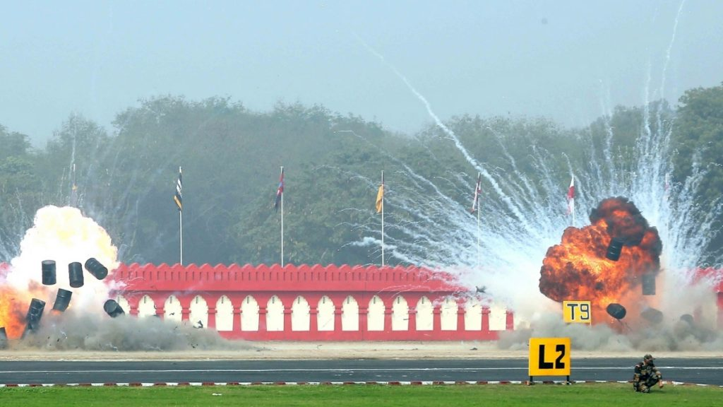Indian Army Demonstrates Drone Swarms During Army Day Parade - India press release