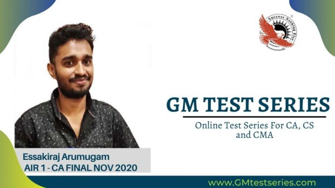 GM Test Series Providing Excellence In Professional Courses With Online Test Series