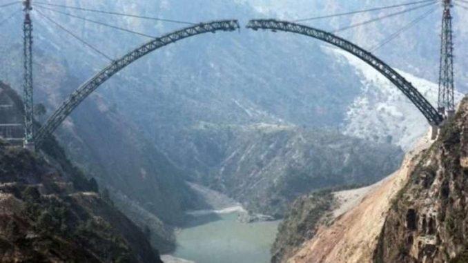 Indian Railways completes the arch bottom of Chenab Bridge