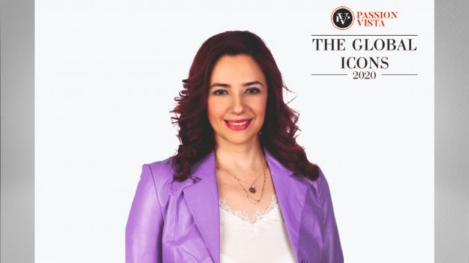 "Rania Lampou excelled by being one of ""The Global Icon 2020"""