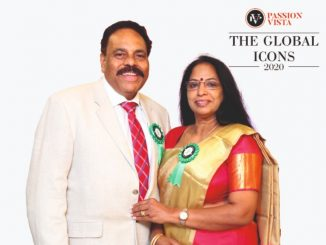 """Passion Vista felicitated Mr & Mrs. Gopinathan Nair as """"The Global Icon 2020"""""""