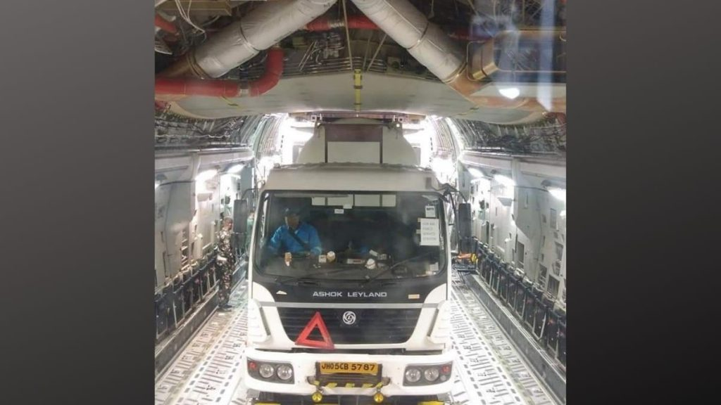 COVID 19 relief efforts by Indian Air Force