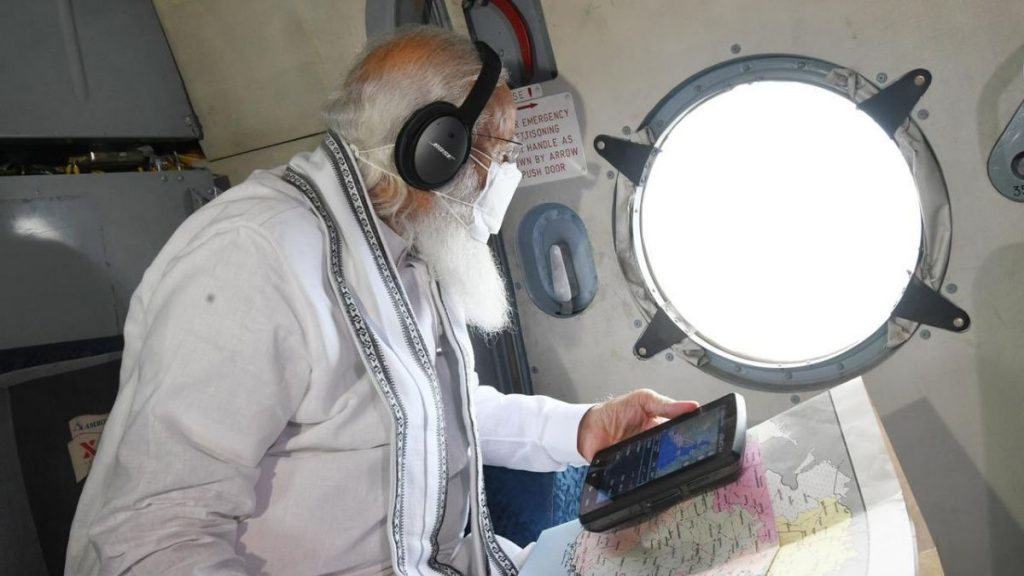 PM Modi undertakes aerial survey of Cyclone Tauktae affected areas in Gujarat