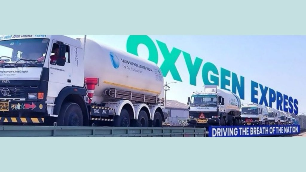 Biggest single-day load of more than 1000 MT of Oxygen relief delivered by Oxygen Expresses
