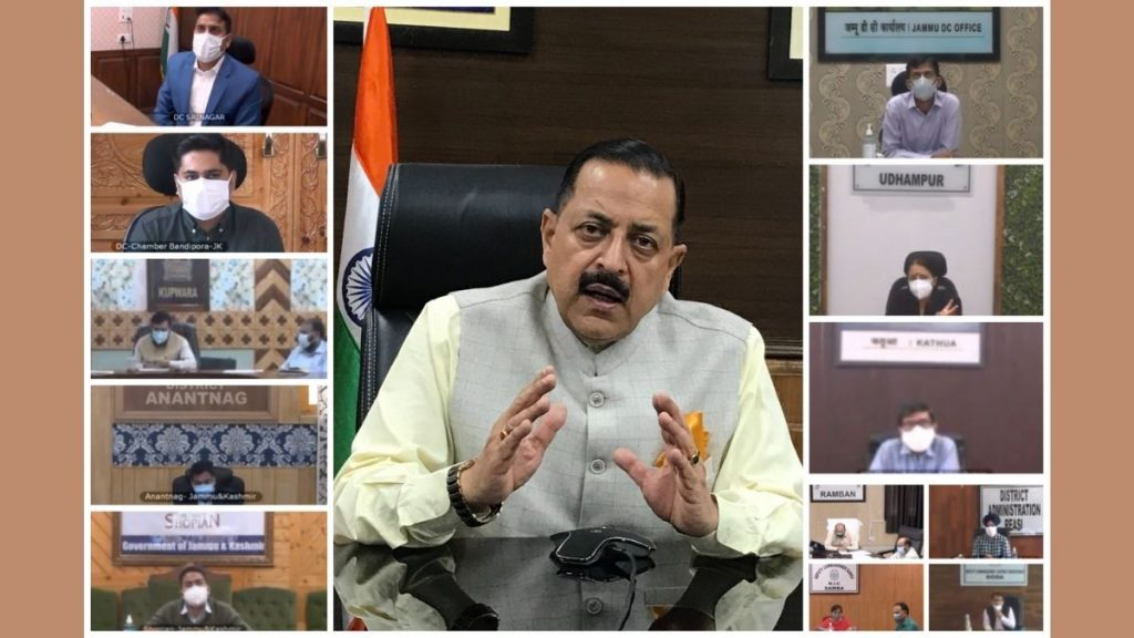 Union Minister Dr. Jitendra Singh calls for a revival of free Tele-Consultation facilities in all districts of Jammu and Kashmir for rural and home isolation patients