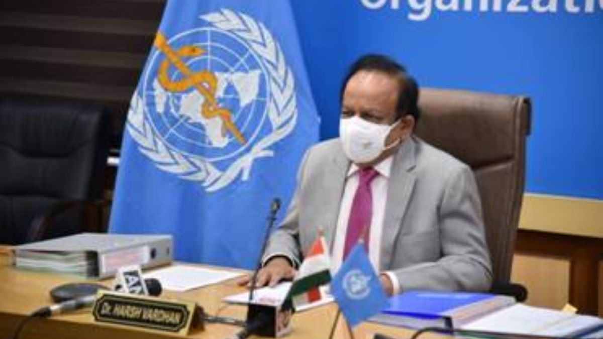As Chairman of the Executive Board, WHO, Dr. Harsh Vardhan presented details of the 147th and 148th sessions of the Executive Board before the 74th World Health Assembly