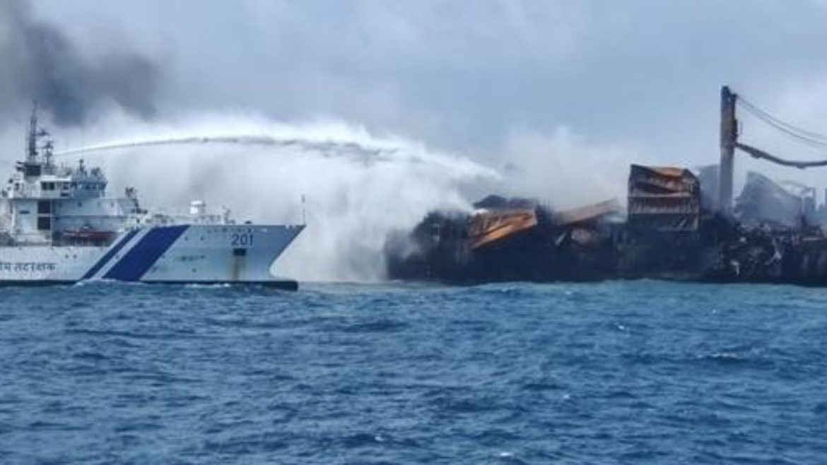 Relentless efforts by the Indian Coast Guard to control the fire onboard MV X-Press Pearl